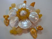BROCHE JAUNE D'OR